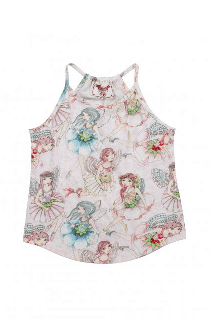 "Paper Wings ""Flower Fairies Racer Back Singlet"""