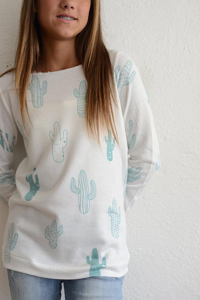 "PPLA ""Girls Cactus Slouchy Knit Top"""