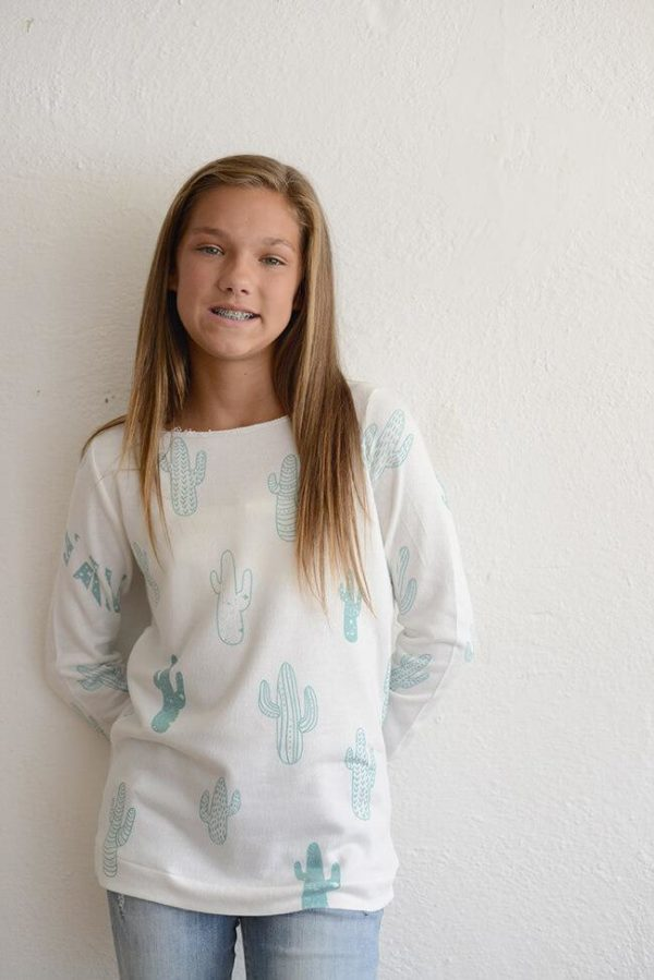 """PPLA """"Girls Cactus Slouchy Knit Top"""""""