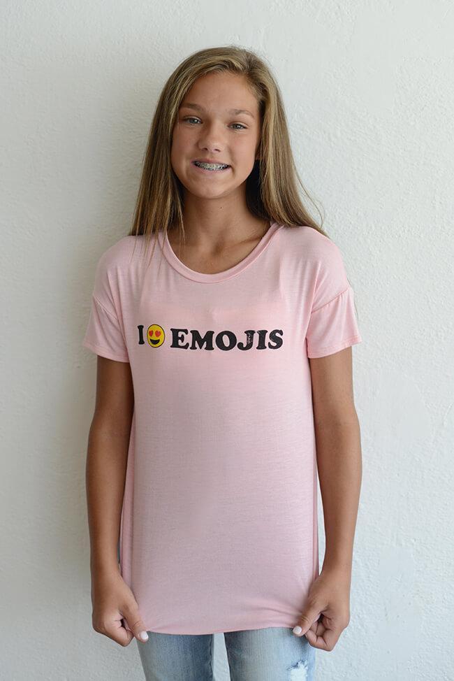 "PPLA ""I Love Emojis Knit Tee"""