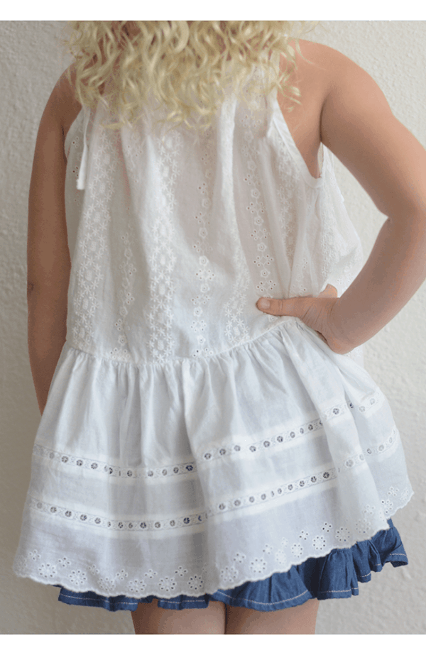 "Paper Wings ""Lace Singlet w/ Ties"""