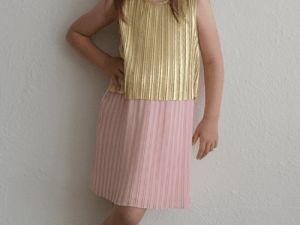 "Billieblush ""Pleated Two-Tone Dress"""