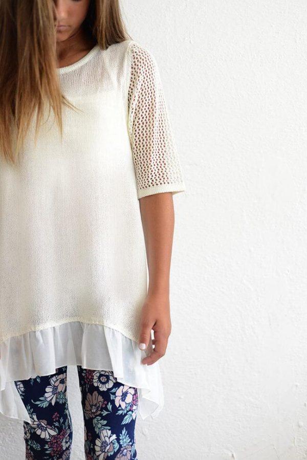 "PPLA ""Shreya Knit Tunic"" Ivory"