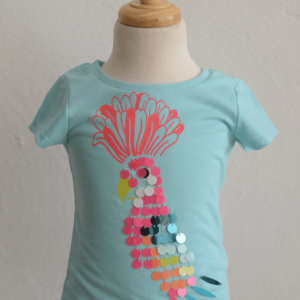 "Billieblush ""Turquoise Parrot Top"""