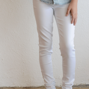 Tractr Jeans 5 PKT Basic Skinny (White)