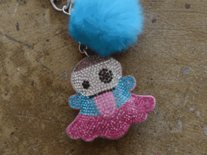 "Bari Lynn ""Rainbow Snapchat Emoji"" Fur Keychain"