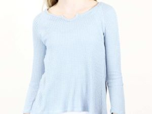 """Blue Thermal Waffle"" Top by Kiddo"