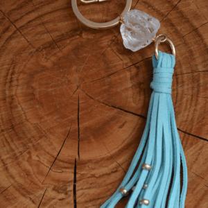 """Delta June Designs """"The Sammie Keychain"""" Blue"""