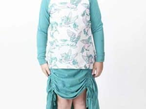 "Paper Wings Drawstring Maxi Skirt ""Teal"""