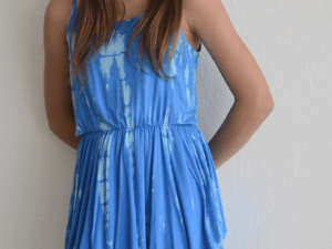 "Erge ""Rain Tie Dye Dress"" Aqua"