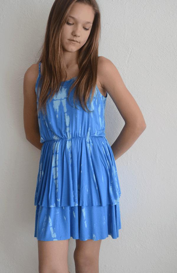 "Erge ""Rain Tie Dye Dress"" Aqua"