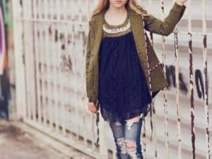 "Jak & Peppar ""Hope & Faith"" Tunic  Navy/Olive"