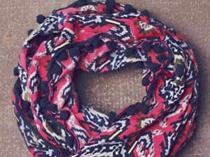 Jak & Peppar Like the Wind Infinity Scarf Electric Pink