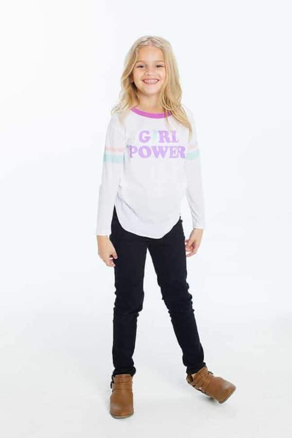 "Chaser Girls Graphic Tee ""Girl Power"""