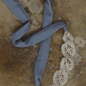 "Headbands of Hope ""Grey Lace Tie"""