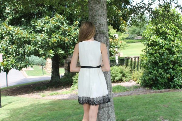 """Sleeveless Pleat Front w/ Full Skirt"" by Blush"