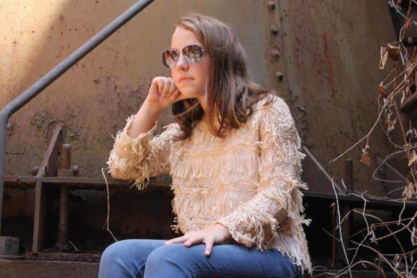 """""""Fringe Sweater (Tan)"""" by Hayden Girls, LA"""