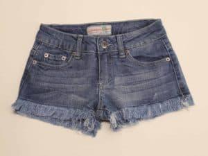 Blue Denim Frayed Shorts by Vintage Havana