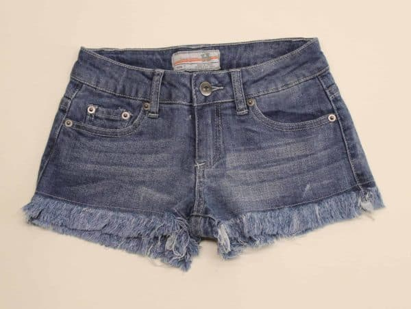 Blue Denim Frayed Shorts by Vintage Havana