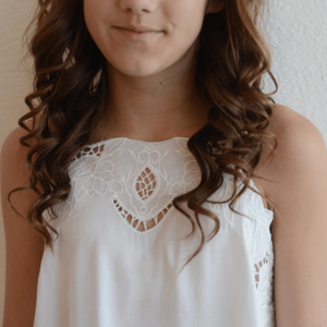 """Kiddo """"Open Lace Cami"""" Ivory"""