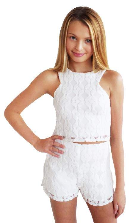 """Sally Miller """"Lace Top"""" Ivory"""