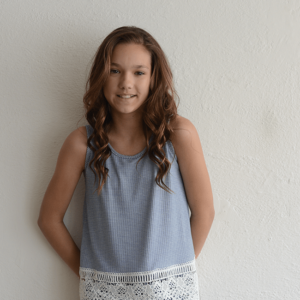 """Love Daisy """"Stripe Tank with Lace"""""""