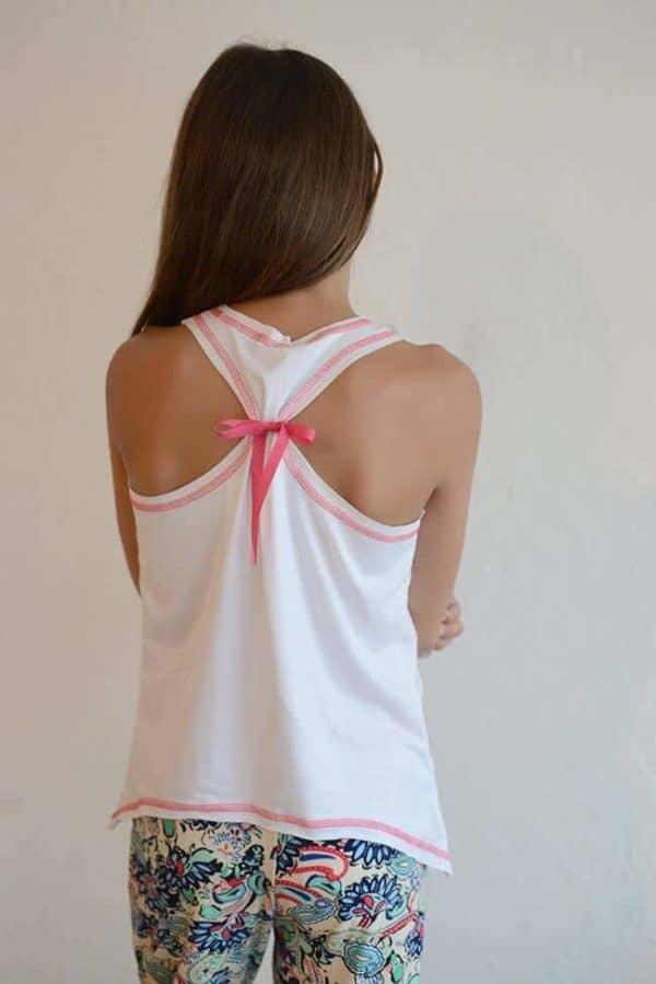 "Marina Cabrera ""Pink Print Pajama Set"""
