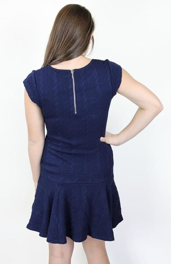 """""""Navy Cable Knit Dress"""" by Nicole Miller"""