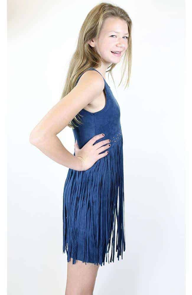 """""""Navy Fringe Frinzy"""" Dress by Elisa B."""