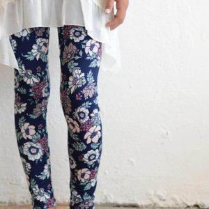 "PPLA ""Floral Legging"" Navy"