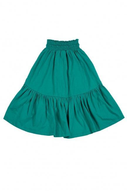 "Paper Wings Drawstring Maxi Skirt ""Teal"""