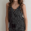 """For All Seasons, by Paper Crane """"Vertical Striped Romper"""""""