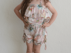 "Paper Wings ""Flower Fairies Drawstring Romper"""