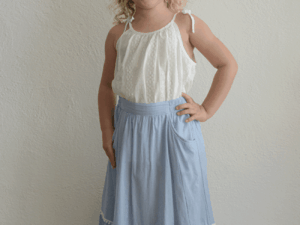 """Paper Wings """"Frilled Maxi Skirt w/ Lace Trims"""""""