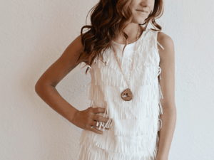 "Nicole Miller ""Party Fringe Dress"""