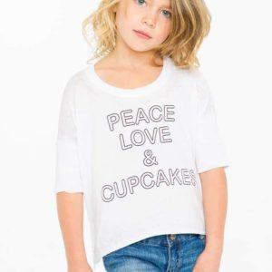 "Chaser Vintage Jersey ""Peace Love & Cupcakes"""