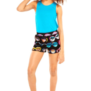 "Terez ""My Sunglasses at Night"" Mesh Shorts"