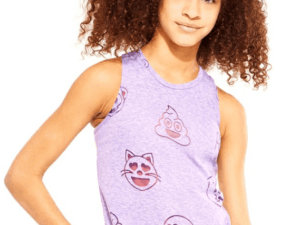 "Terez ""Purple Emoji Burnout"" Racerback"