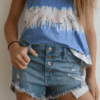 """Tractr """"Denim Button-Up Shorts"""""""