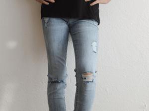 "Tractr ""Rebel Ripped Leg Skinny 5 Pkt"" Jeans"