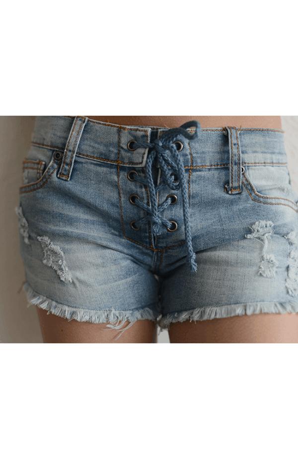 "Vintage Havana ""Lace  Up Shorts"""