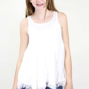 """White Angel Lace Top"" by Hayden Girls, LA"