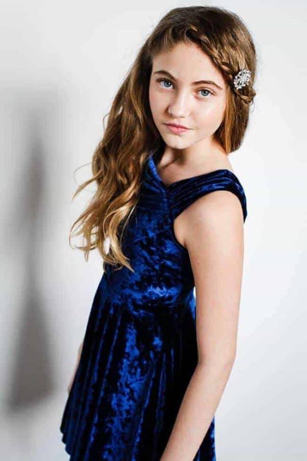 """Gigi Ri """"The Charlotte Dress"""" Blue Velvet"""