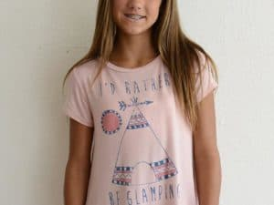 "PPLA ""I'd Rather Be Glamping"" Knit Tee"