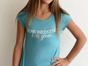 "PPLA ""Dear Weekend, I Love You"" Knit Tee"