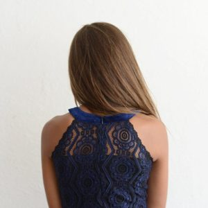 "Elisa B ""Lace Dress"" Navy"