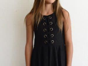 """Elisa B """"Suede Dress"""" Black"""