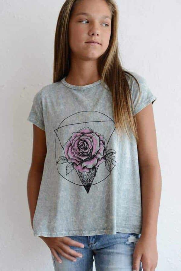 "PPLA ""Sacred Rose Knit Tee Grey"""