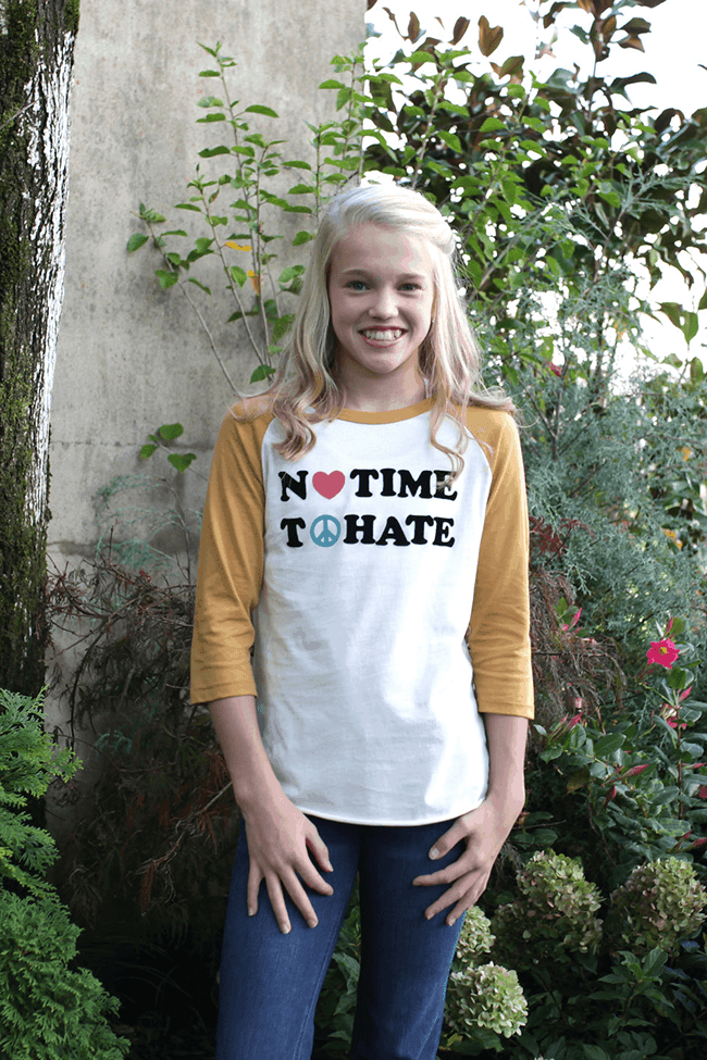 """No Time To Hate"" Baseball Tee by Junk Food"