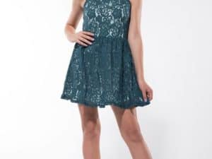 "Miss Behave Girls ""Hailee Lace Dress"" Green - Penelope Tree"